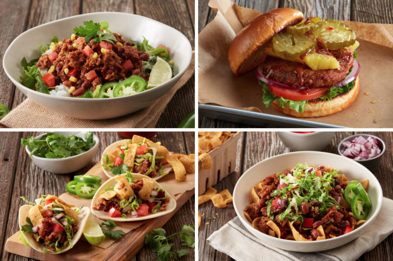 Famous Dave's in July announced it had partnered with Beyond Meat to launch a test of plant-based protein menu items. Famous Dave's said it has been experimenting with different recipes and ingredients for months.  The BBQ Bowl includes barbecue seasoned Beyond Meat combined with lettuce, cilantro lime rice, chili beans, roasted sweet corn, jalapeños, chopped tomatoes and red onions.  The Tropical Burger features a Beyond Burger patty stacked with grilled pineapple, spicy pickles, tomato, onion and lettuce all topped with the chain's Famous Texas Pit sauce.  The BBQ Street Tacos combine barbecue seasoned Beyond Meat with lettuce, tomatoes, red onions and Fritos corn chips wrapped in three warm corn tortillas.  The Fritos BBQ Nachos dish features a bed of Fritos corn chips topped with seasoned Beyond Meat, barbecue beans, lettuce, chopped tomatoes, red onions, jalapeños and Famous Texas Pit sauce.  The test rolled out in four locations throughout Colorado and one in Minneapolis in July, with the intention of being deployed throughout the restaurant's network this fall.