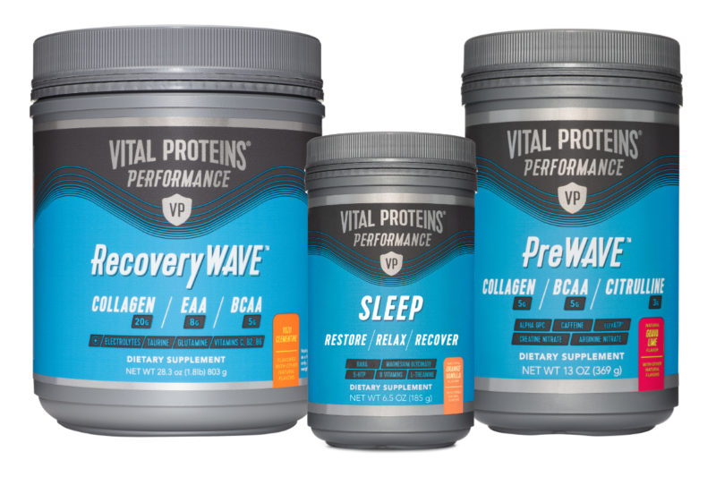 Chicago-based Vital Proteins is adding Vital Performance, a full spectrum line of high-performance, grass-fed, pasture-raised bovine collagen-based products tailored to meet the functional needs of today's athlete. Formulated without fillers, binders, synthetic dyes, gluten, dairy or soy, the new line of powders come in a variety of flavors made with natural ingredients for pre- and post-workout support. Each of the Vital Performance products provide athletes with a targeted benefit needed to promote energy, endurance, muscle building and muscle recovery. There's also a sleep product to assist athletes with getting a restful night so they wake up restored to conquer the next training session. Products are rolling out in December.