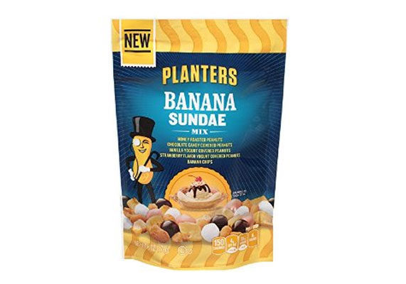 The Kraft Heinz Co., Northfield, Ill., has launched Planters Banana Sundae Mix, featuring honey roasted peanuts, chocolate candy-covered peanuts, yogurt-covered peanuts and banana chips.