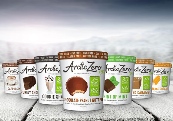 """Touting the trademarked term """"Fit Frozen Desserts,"""" San Diego-based Arctic Zero makes low-glycemic, lactose-free, gluten-free treats that are high in protein and fiber and low in calories. The flagship line of 150-calorie pints features such flavors as cookie shake, cappuccino, chocolate peanut butter, salted caramel, vanilla maple and mint chocolate, among others. Earlier this year, the brand introduced a new line of 300-calorie """"chunky"""" pints featuring inclusions, such as chocolate chip cookie dough, mint chocolate chip, butter pecan, and key lime pie with graham cracker crumbles. (1 of 9)"""