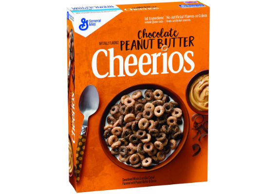 General Mills' new Chocolate Peanut Butter Cheerios are made with real cocoa and peanut butter. The whole grain oat cereal contains 120 calories per serving. (1 of 20)