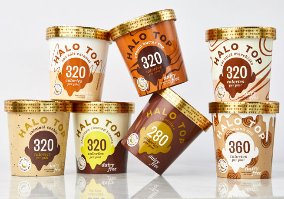 Halo Top Creamery is introducing non-dairy and vegan-friendly frozen dessert varieties. Made with coconut milk, the desserts range from 280 to 360 calories per pint and come in seven flavors: Peanut butter cup, chocolate, oatmeal cookie, sea salt caramel, caramel macchiato, cinnamon roll and chocolate covered banana. (1 of 15)