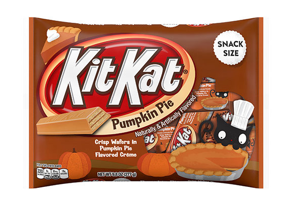 A new Kit Kat Pumpkin Pie variety features snack-size crisp wafers in pumpkin pie-flavored creme. (1 of 7)