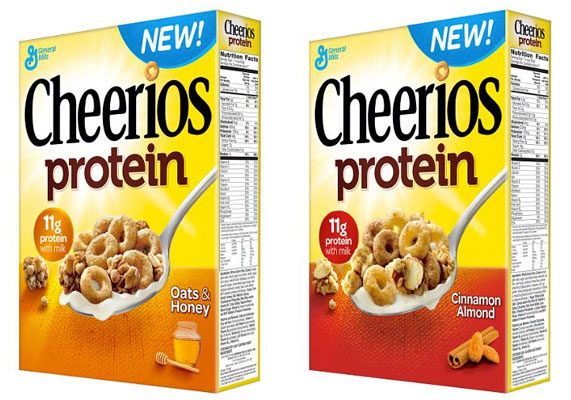 "General Mills, Minneapolis, extended its Cheerios line with protein options, featuring 7 grams of protein (11 grams with milk), 13 vitamins and minerals, more than half the daily value of whole grain, and a good source of fiber. Cheerios Protein combines toasted ""O""s with crunchy granola clusters in two flavors: oats and honey, and cinnamon almond."