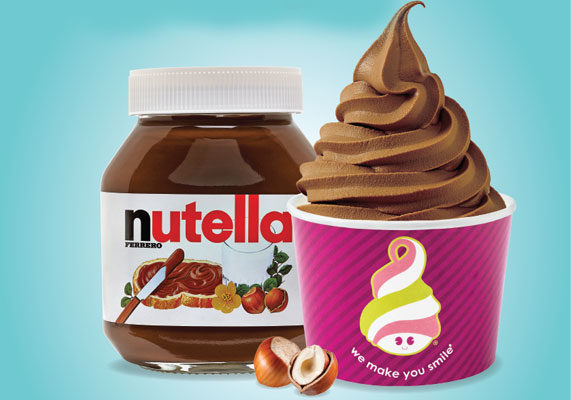 Frozen yogurt and Nutella combine to create Menchie's new frozen yogurt flavor: Creamy Cocoa Hazelnut made with Nutella. Menchie's also will offer a Nutella topping customers can add to their creations. The flavor will be available until May 31.