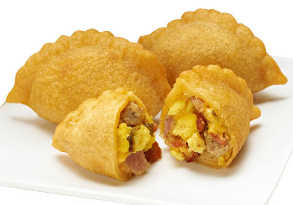 Convenience store chain 7-Eleven, Inc. is expanding its breakfast options with the introduction of its Breakfast Empanada Bites. The new miniature, crescent-shaped pastries, filled with eggs, cheese, bacon, ham and sausage, are priced at three for $1 at participating 7-Eleven stores.