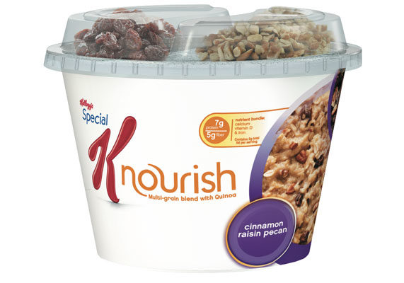 The Kellogg Co. is introducing Special K Nourish, a line of hot cereal and bars. With such ingredients as quinoa, fruit, nuts and seeds, the individually packaged products offer both portability and nutrition benefits.