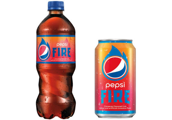 PepsiCo is splicing spice and soda with its new limited-edition beverage, Pepsi Fire. The drink is a cola with a cinnamon flavored twist.  (1 of 15)