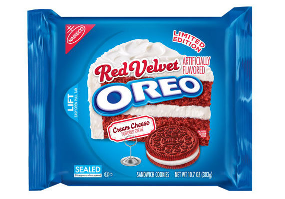 Mondelēz International in February launched Red Velvet Oreo as the latest seasonal flavor in its sandwich cookie arsenal, featuring a pair of ruby-hued wafers filled with cream cheese-flavored crème.