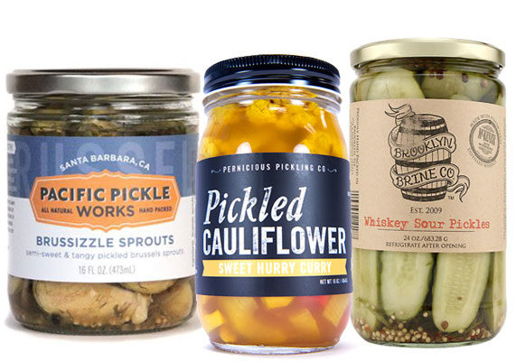 A peck of pickled innovation goes boldly beyond the classic cured cucumber with unexpected flavors and ingredients. Two products in particular were recognized with innovation awards at the show: Brussizzle Sprouts from Pacific Pickle Works Inc., Santa Barbara, Calif., which are pickled Brussels sprouts with a semi-sweet, tangy and spicy flavor; and Sweet Curry Hurry Pickled Cauliflower from Pernicious Pickling Co., Costa Mesa, Calif., which combines cauliflower with red bell peppers, onion, a sweet brine and hint of curry. Another exhibitor at the show, Pickled Pink Foods L.L.C., Roswell, Ga., produces several gourmet varieties, including spiced watermelon pickles and, its newest addition, Smokin' Okra. At the show, the company is sampling yet-to-be-released Perfectly Pickled Peaches. Brooklyn Brine Co. L.L.C., Brooklyn, N.Y., collaborated with Finger Lakes Distilling Rye Whiskey to create Whiskey Sour Pickles. Other offbeat varieties from the brand include Fennel Beets, Chipotle Carrots and Moroccan Green Beans. (1 of 9)