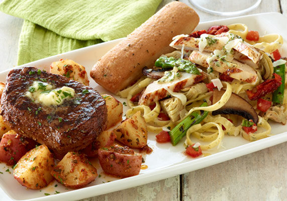 "Earlier this year, Applebee's launched a Take Two promotion, allowing diners to mix and match smaller portions of signature entrees, such as blackened sirloin, garlic rosemary chicken pasta and lemon shrimp fettuccine. The menu targeted millennials, who are likely to have ""food envy"" while dining out with friends, according to the company."