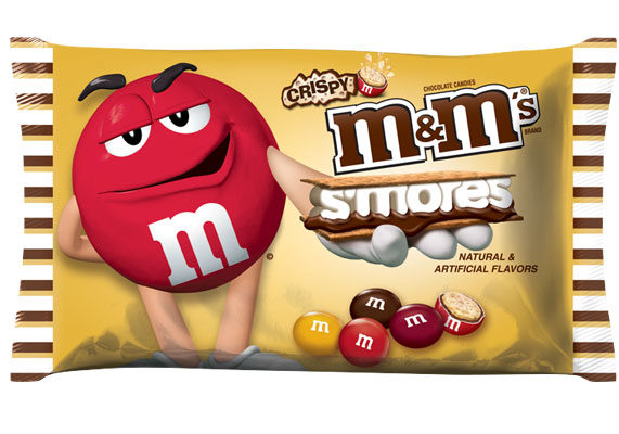From Mars, Inc., McLean, Va., comes a s'mores variety of Crispy M&M's chocolate candies.