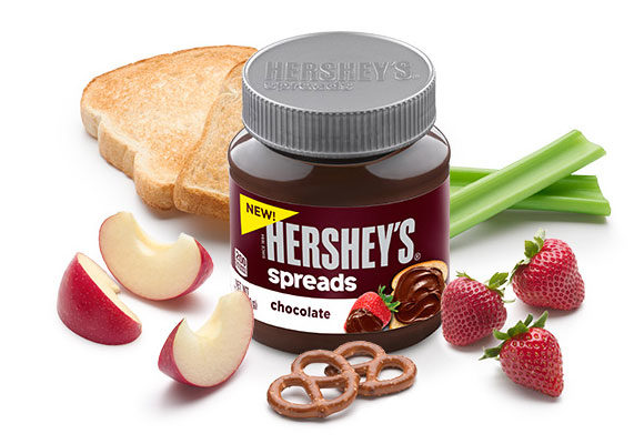 The success of Nutella and similar sweet spreads has lured new players to the market. The Hershey Co. hopes to unwrap new opportunities in the $3.4 billion category with its recent launch of Hershey's Spreads, including chocolate, chocolate with hazelnut, and chocolate with almond varieties packaged in 13-oz jars.