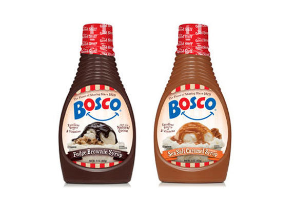 Sea salt caramel and fudge brownie varieties join the classic line of chocolate syrups from Bosco. Used as an ice cream topper or milk mix-in, the products are made with natural cocoa and B vitamins, according to the company. Along with new flavors comes new packaging for the brand, which is now carried in retailers nationwide for the first time in 35 years.