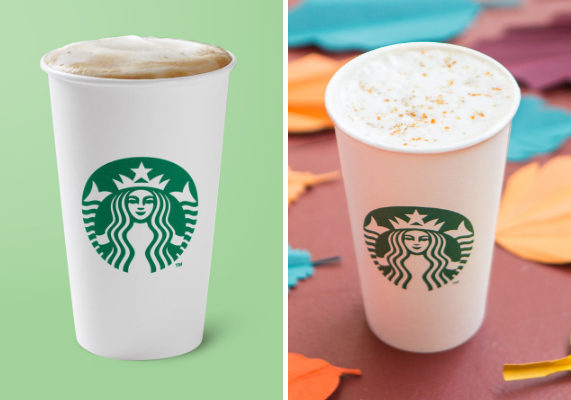 Starbucks is debuting a duo of new beverages for fall. The new Maple Pecan Latte is a blend of espresso and steamed milk combined with the flavors of maple syrup, pecan and brown butter all topped with a maple-flavored topping.  The new Pumpkin Spice Chai Tea Latte features a blend of chai, milk and pumpkin spice sauce topped with cinnamon, ginger, nutmeg and clove. (1 of 14)