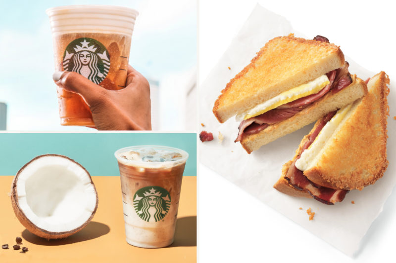 Two new beverages and a new breakfast sandwich are joining the Starbucks menu.