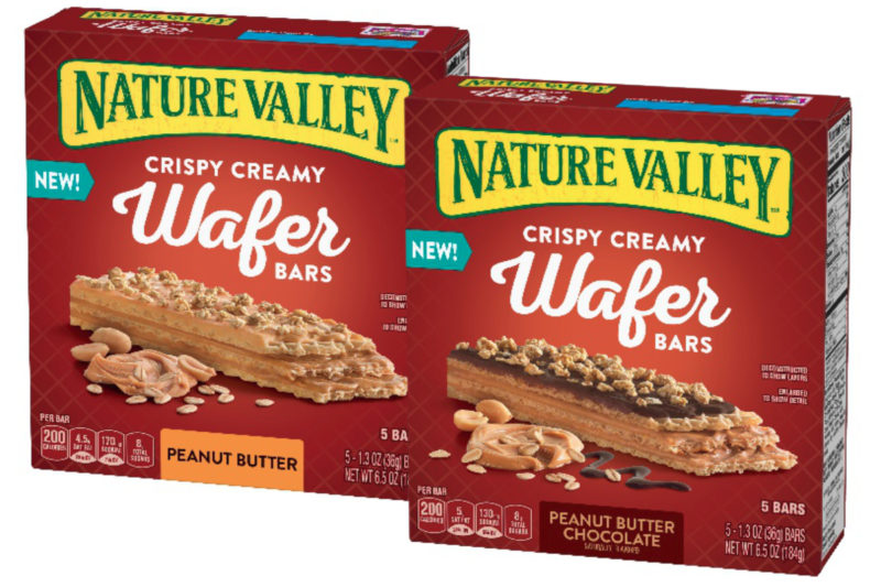 General Mills, Inc. is bolstering its bar offerings with new Nature Valley Crispy Creamy Wafer Bars. Available in peanut butter and peanut butter chocolate varieties, the bars consist of layers of wafers, peanut butter and oats on top. The peanut butter chocolate flavor is topped with oats and a layer of chocolate. Individually wrapped for on-the-go consumption, the bars contain 200 calories apiece.