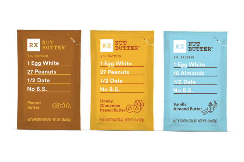 RXBAR, a subsidiary of Kellogg Co., is expanding beyond bars with the introduction of nut butters in three flavors: peanut butter, honey cinnamon peanut butter and vanilla almond butter. Packaged in single-serve, squeezable pouches, the products contain peanuts or almonds, dates and egg whites.