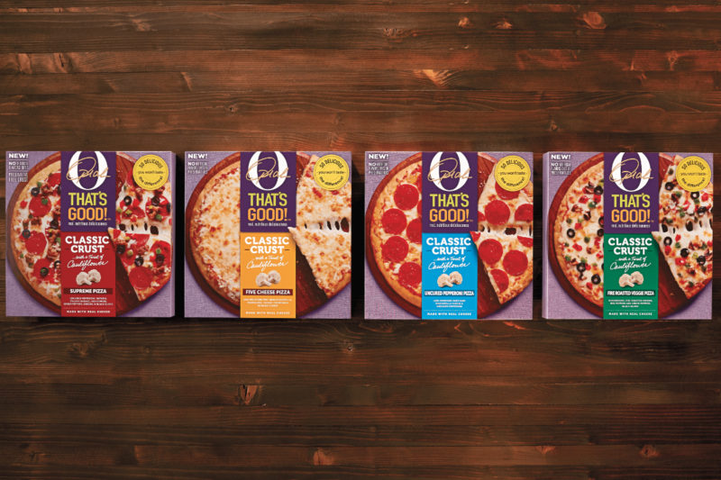 A line of frozen pizzas is launching as part of an ongoing collaboration between the Kraft Heinz Co. and Oprah Winfrey. O, That's Good! Frozen Pizza features a crust made with cauliflower, and is available in four varieties: pepperoni, five cheese, supreme and fire roasted vegetable.