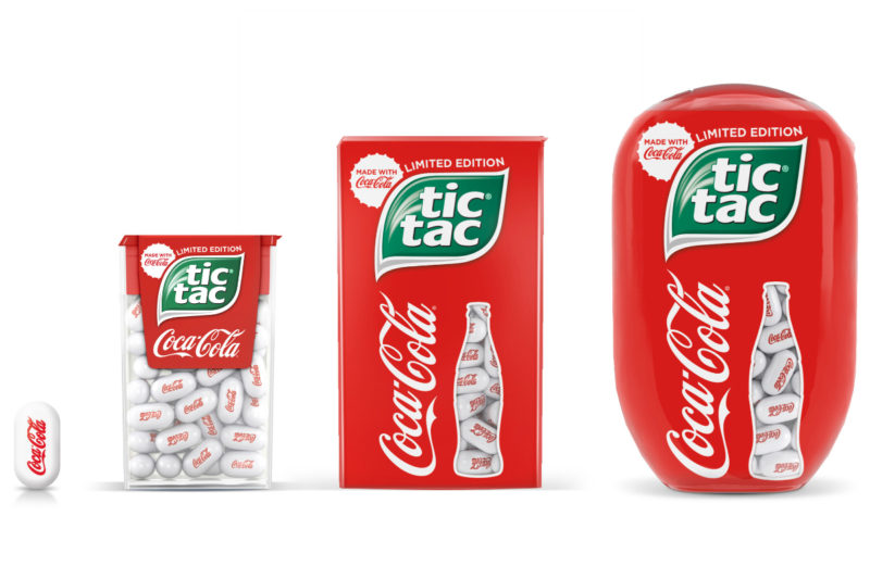 Ferrero North America partnered with the Coca-Cola Co. in October to launch limited-edition Coca-Cola flavored Tic Tac mints. The product will debut in early 2020 and marks the first time a mint has been created with Coca-Cola.