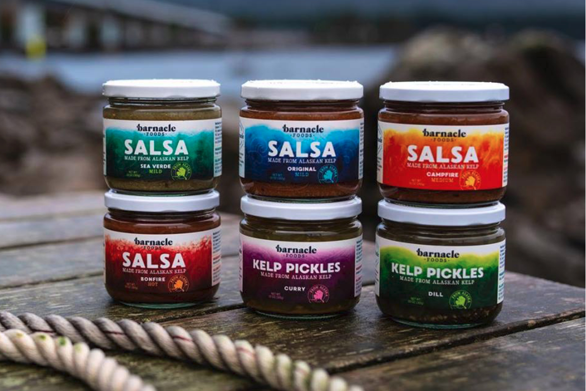 Barnacle Foods kelp salsa and pickles