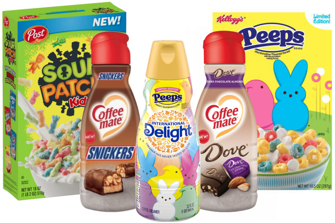 Candy-flavored cereals and coffee creamers