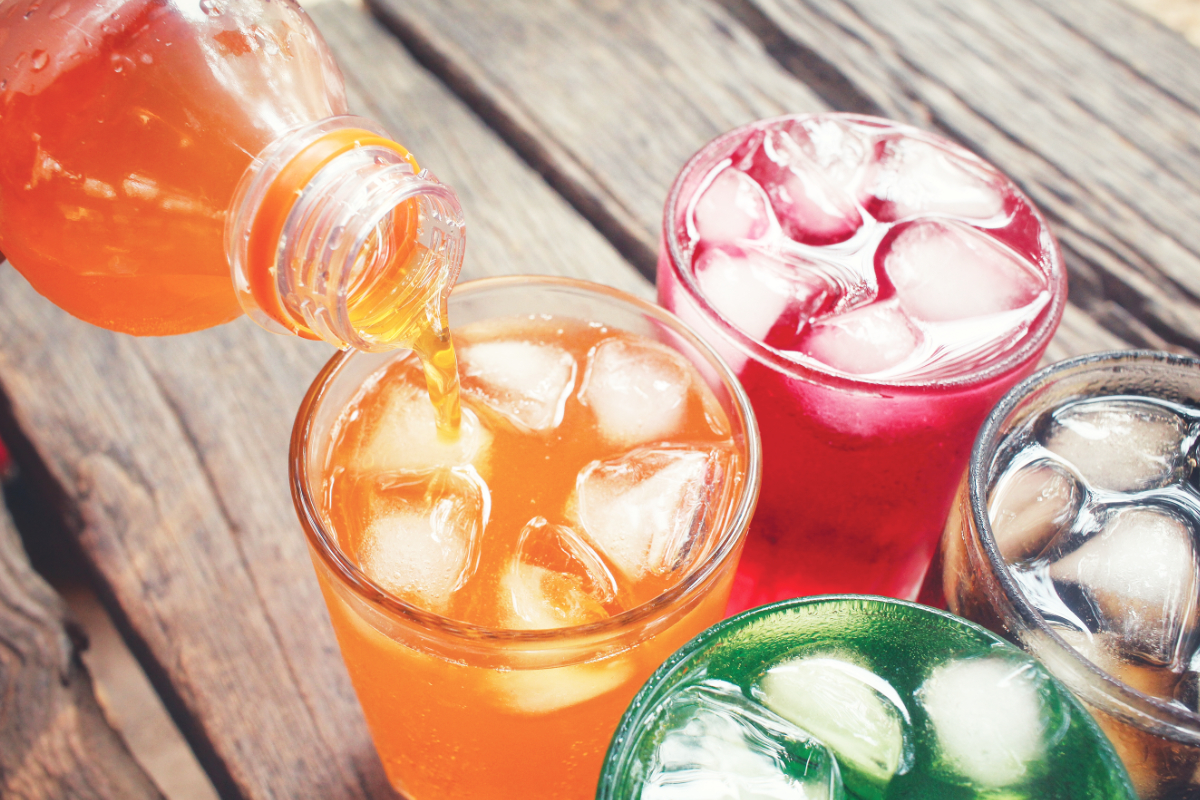 Colorful soda
