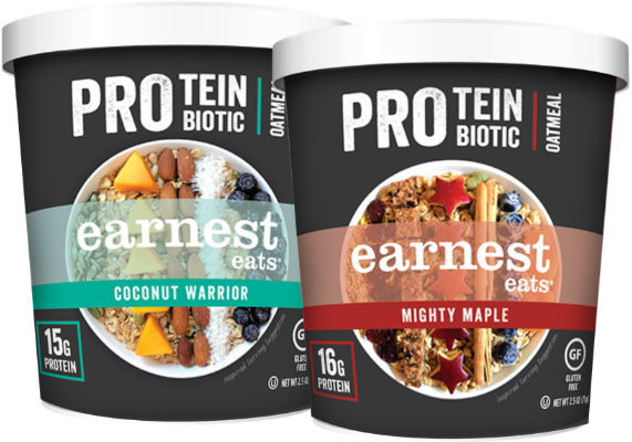 Earnest Eats Protein + Probiotic Oatmeal cups