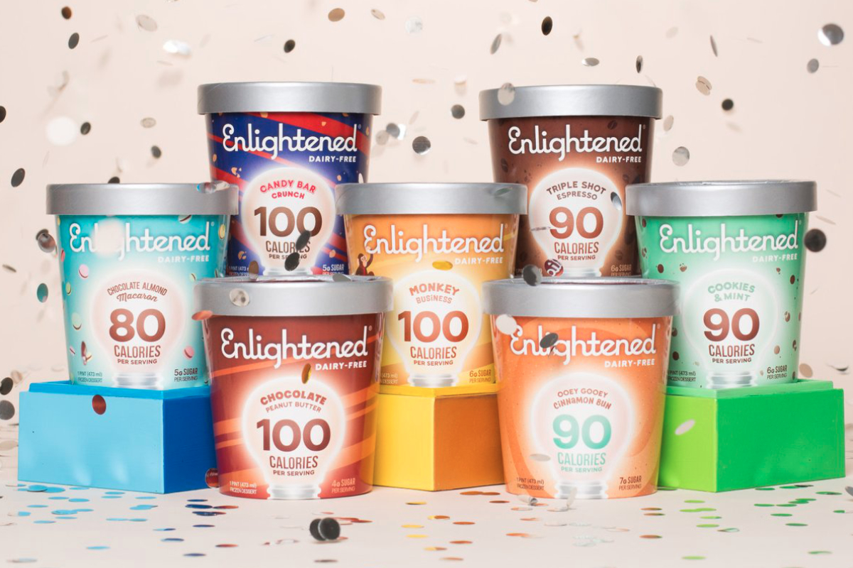 Enlightened dairy-free ice cream