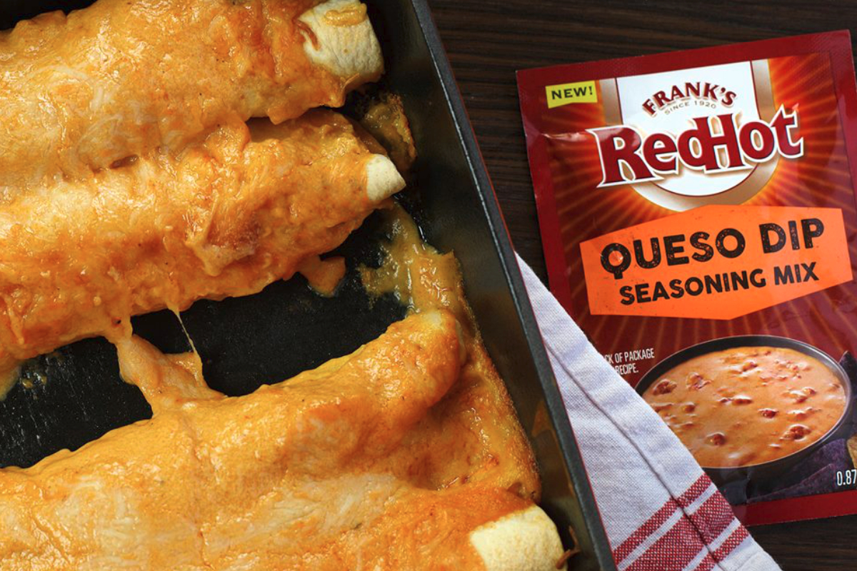 Franks Red Hot queso seasoning mix, McCormick