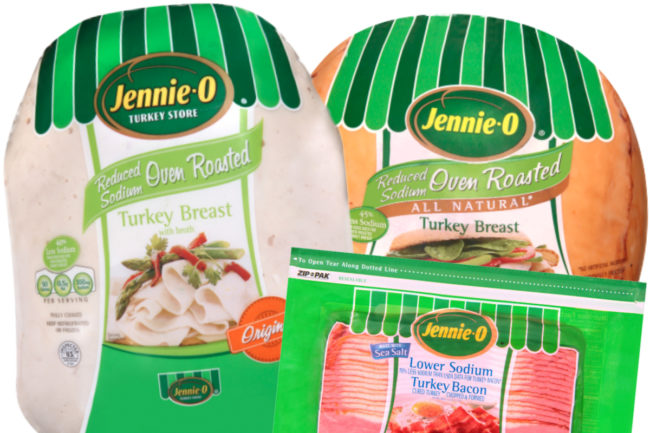 Jennie-O reduced sodium turkey breast and turkey bacon