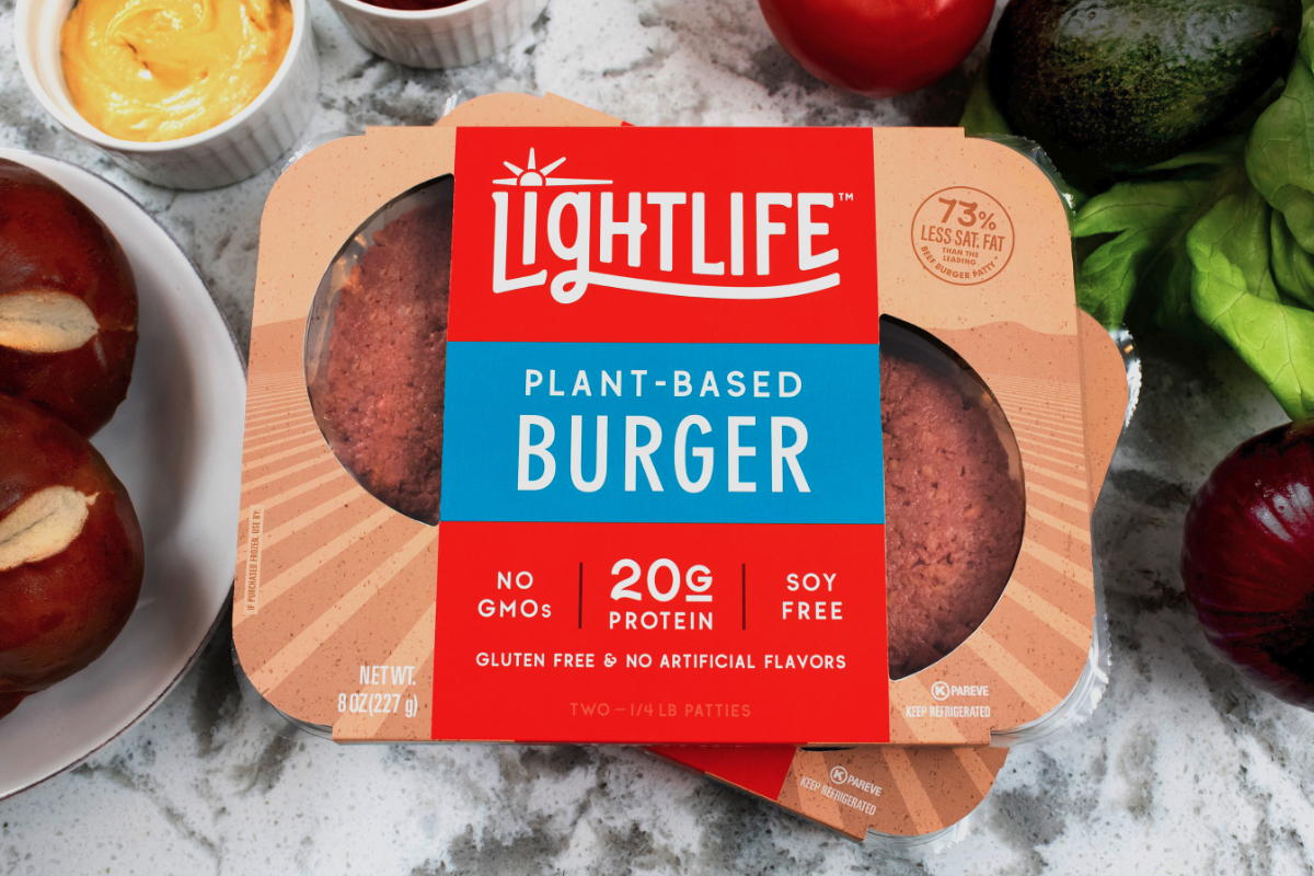Lightlife Foods plant-based burger