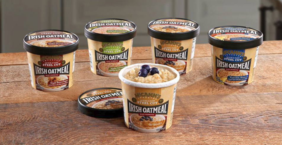 McCanns Irish oatmeal cups, B&G Foods