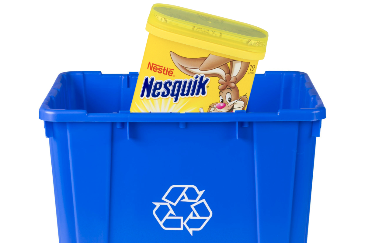 Nestle recyclable Nesquik packaging