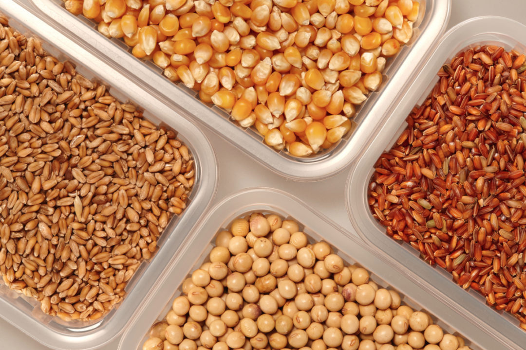Organic wheat, corn and soybeans
