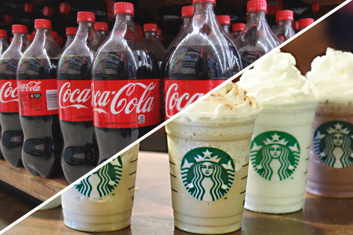 Starbucks and Coca-Cola