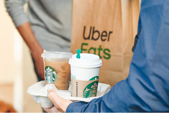 Starbucks Uber Eats delivery