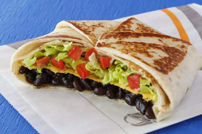 Taco Bell vegan Crunchwrap Supreme