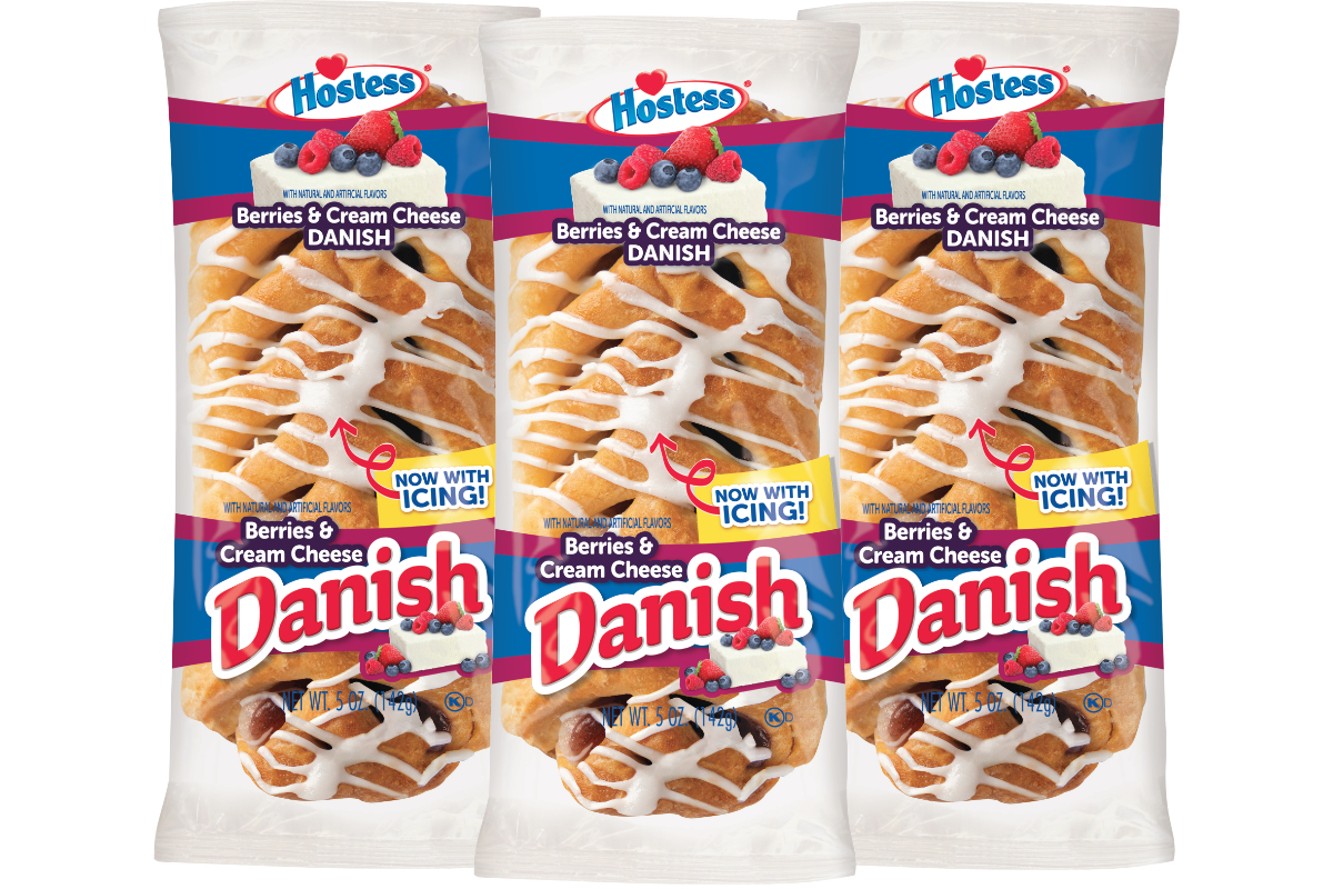 Hostess iced berries & cream cheese danish