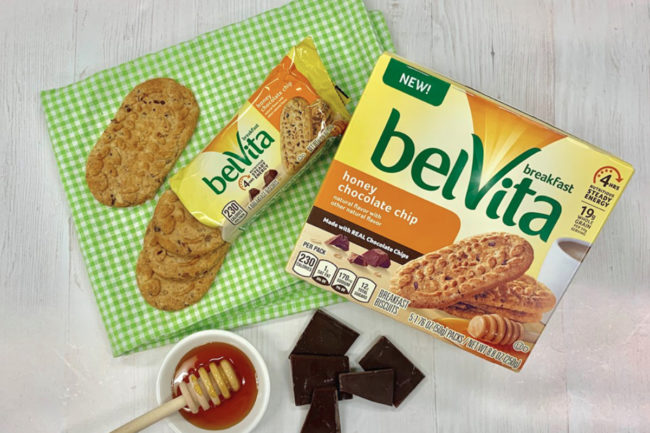belVita honey chocolate chip breakfast biscuits