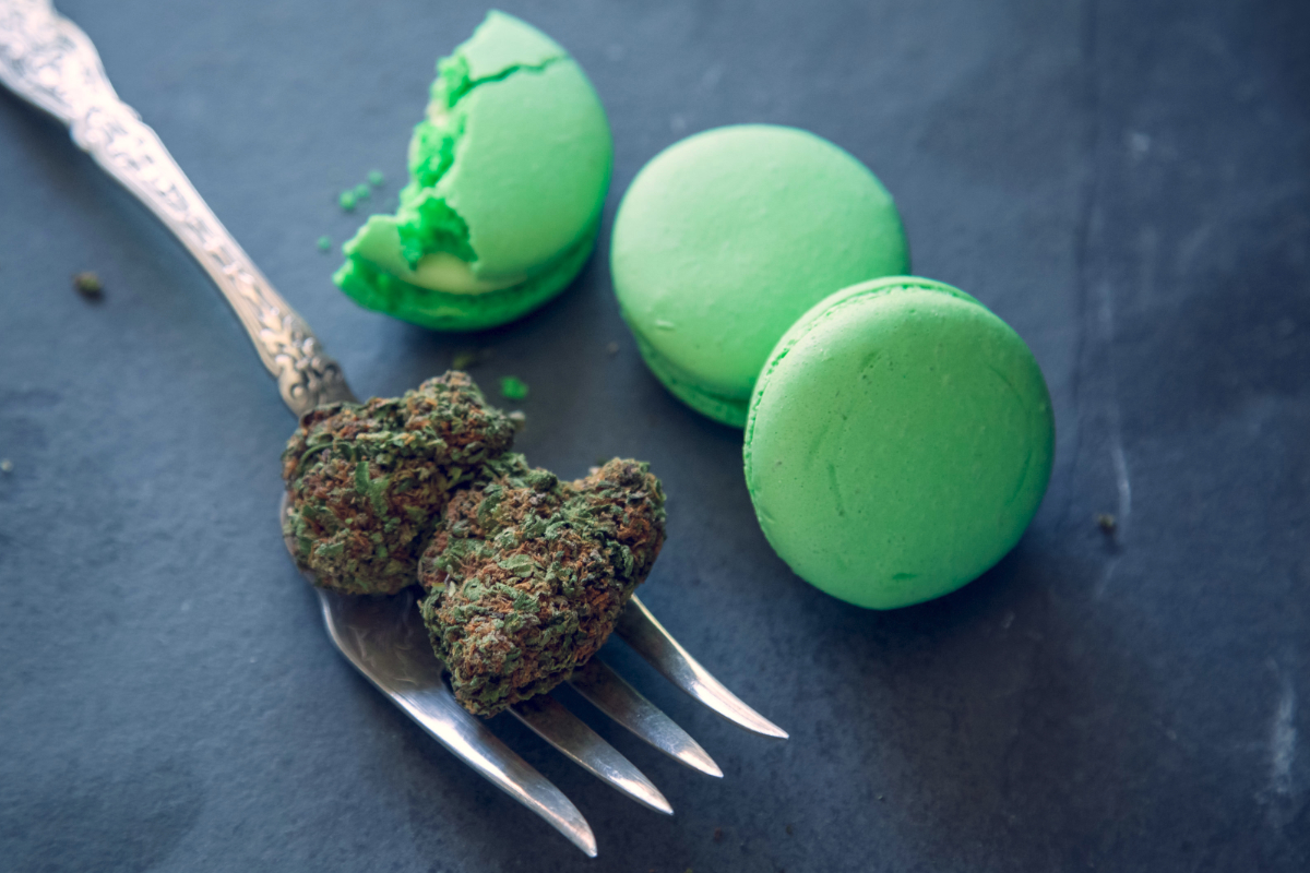 Cannabis infused macarons
