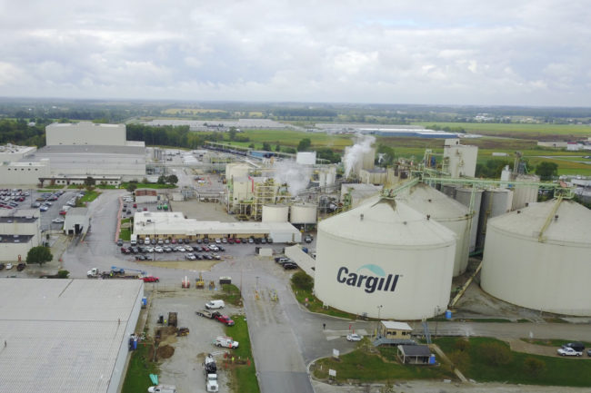 Cargill soybean crush and refined oils facility in Sidney, OH