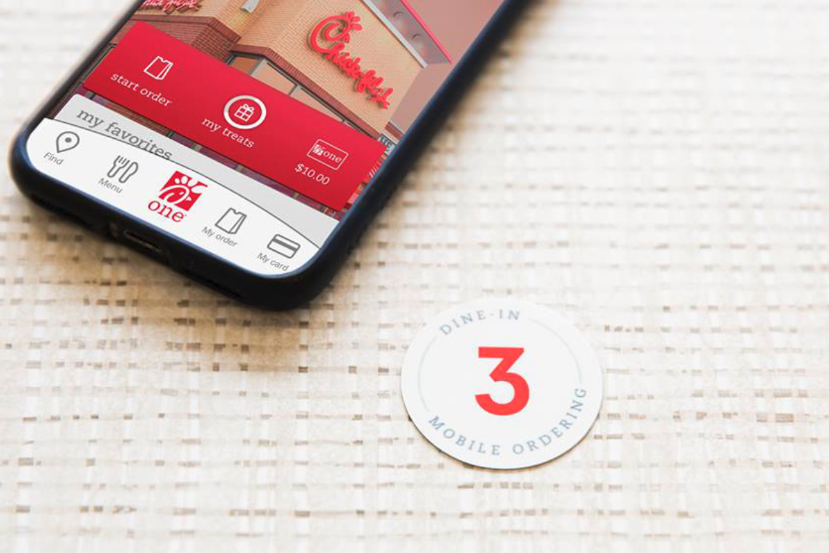 Chick-fil-A dine-in mobile ordering table number