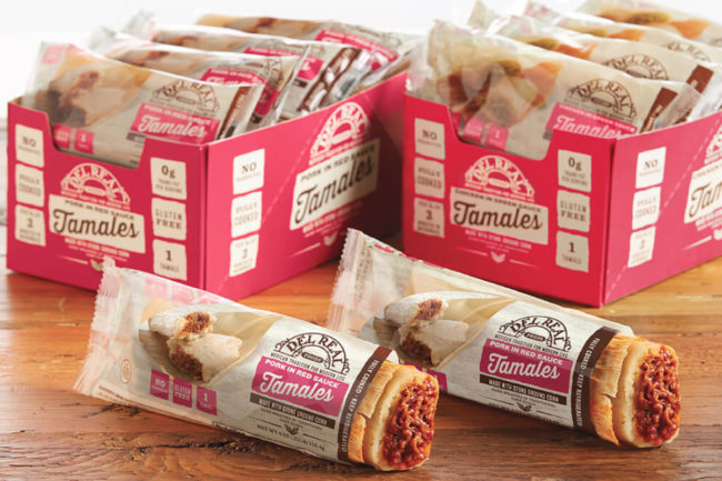 Del Real Foods pork in red sauce tamales