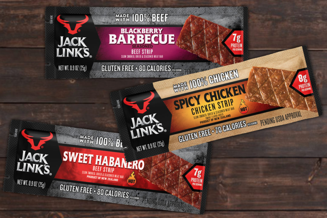 Jack Link's beef and chicken bars