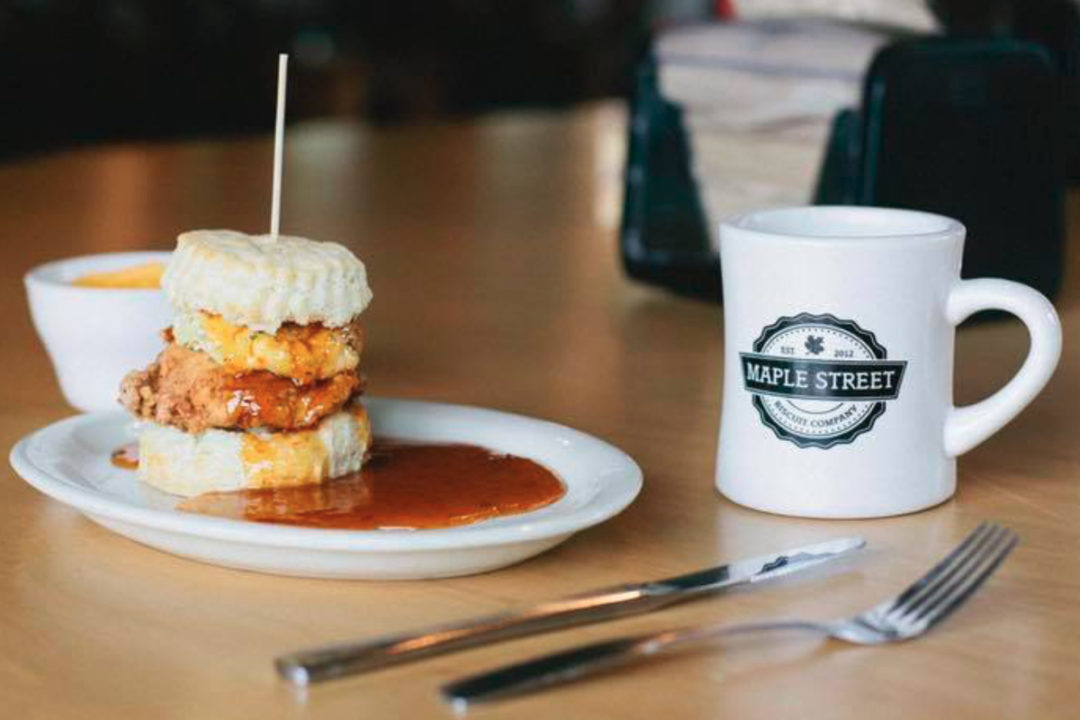 Maple Street Biscuit Co. biscuit and coffee