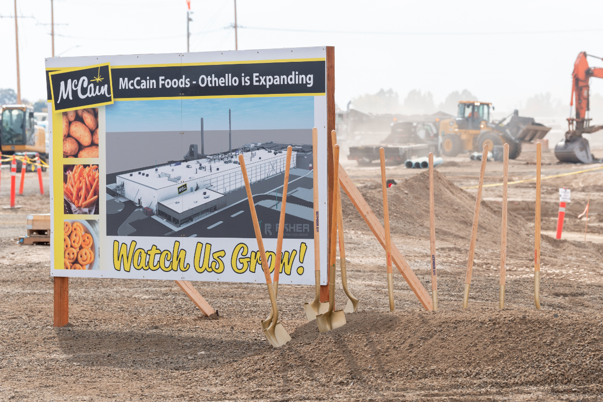 McCain Foods Othello plant expansion groundbreaking