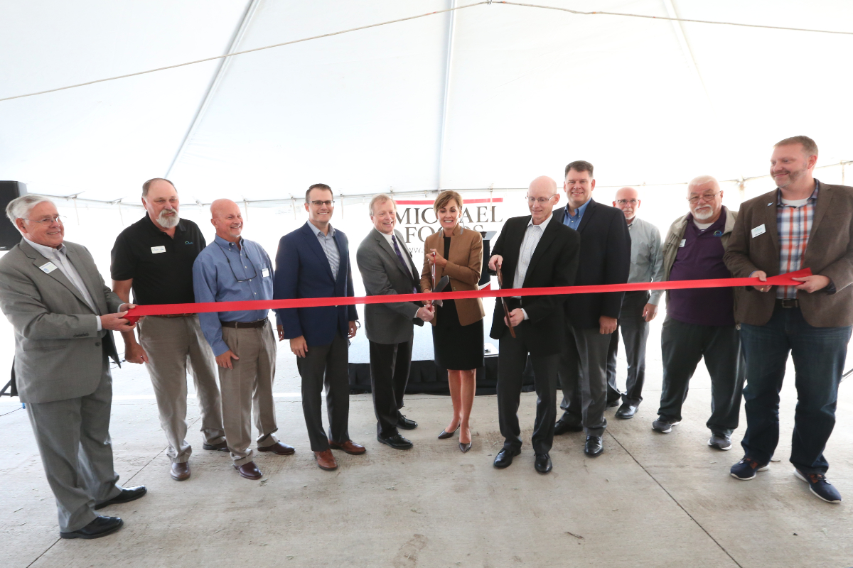 Michael Foods Norwalk, Iowa, facility ribbon cutting ceremony