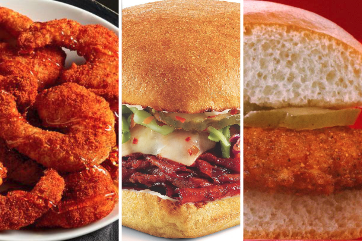 Nashville Hot menu items from Red Lobster, Firehouse Subs and Krystal