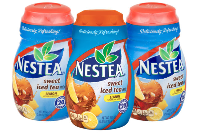 Nestea powdered iced tea mix